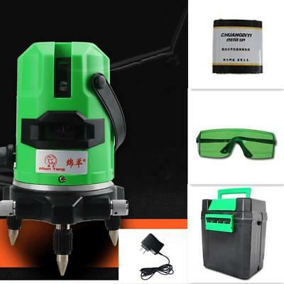 3D Laser Level 5 Line Self Leveling Outdoor 360° Rotary Cross Measuring Tool