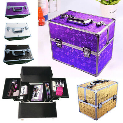 Extra Large Vanity Case Beauty Box Make Up Jewelry Tech Cosmetic Carry Storage