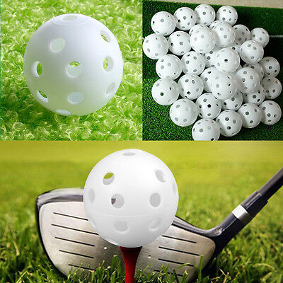 20pcsHigh Quality Whiffle Airflow Hollow Plastic Practice Golf Balls Outdoor