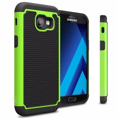 Fits Samsung Galaxy A5 2017 Case Shockproof Rugged Impact Hybrid Cover - Green