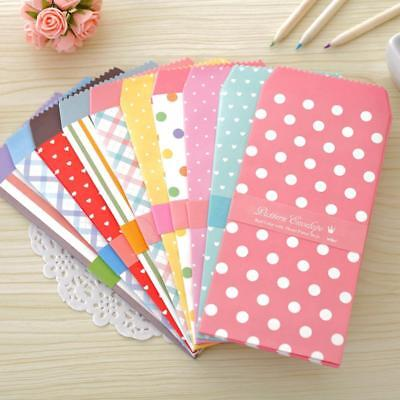 20X Cartoon Mini Colorful Paper Envelope Cards Tiny Small Baby Gift Craft#