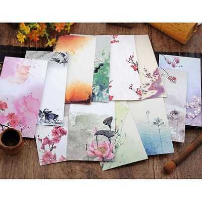 5Pcs Chinese Style Vintage Flower Craft Paper.Envelope For Gift#