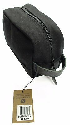 New Mens Owen & Fred Made In Usa Black Canvas Top Zip Toiletry Travel Bag $68