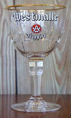 Westmalle Gold Rim Trappist Ale Glass - Full Pint