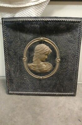 ANTIQUE SUMMER FIREPLACE Cover/Door Victorian ladies bust