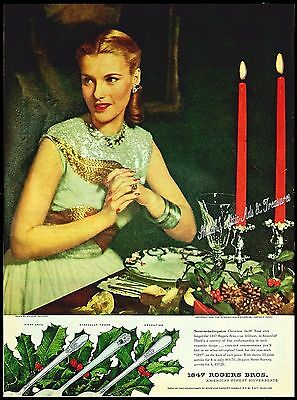 1946 Vtg AD 1847 ROGERS BROS Silverware First Love, Eternally Yours, Adoration