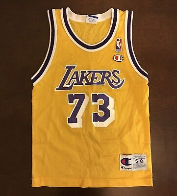 6c85c6f3 Vintage Champion NBA Los Angeles Lakers Dennis Rodman Basketball Jersey  Youth S