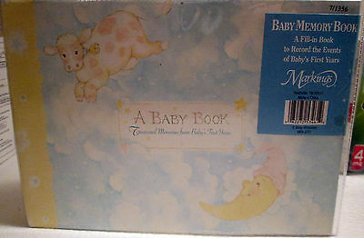 Baby Memory Book By C.r. Gibson A Fill In To Record 1St Years (New)