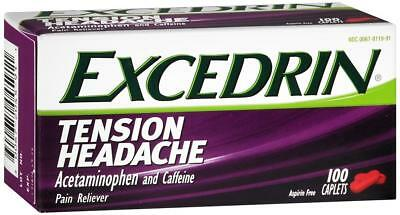 Excedrin Tension Headache Pain Reliever Caplets, 100 Count