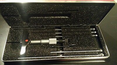 Starret 445 Series Depth Micrometer New In Case - Only The Best!