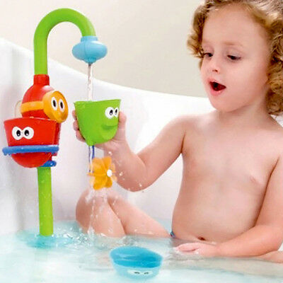 Kids Baby Gift Funny Cartoon  Flow 'N' Fill Spout Bath Educational Toy~