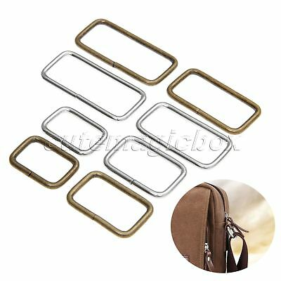 4 Size Metal Square Ring Buckles 20pcs Strapping Belt DIY Needlework  2 Colour