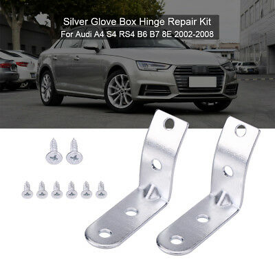 2pcs L Shape Glove Box Repair Kit Lid Hinge Brackets For Audi A4 S4 RS4 B6 B7 8E