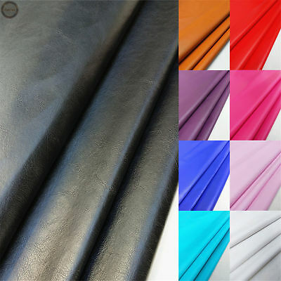 Faux Smooth Leather PVC Leathertter Waterproof  Vinyl Fabric Craft Material