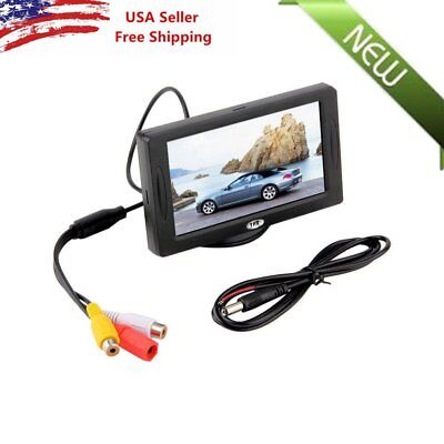"Car Rear View System Backup Reverse Camera Night Vision 4.3"" TFT LCD Monitor OW"