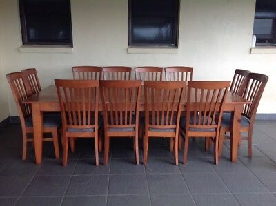 Dining Table and 12 chairs - Solid Timber