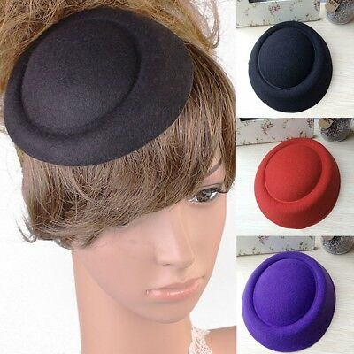 Women Girls DIY Fascinator Base Felt Like Pillbox Hat Material Make Supplies