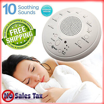 Noise Sound Spa Relax Machine White Baby Easy Sleep Nature Night Peace Therapy