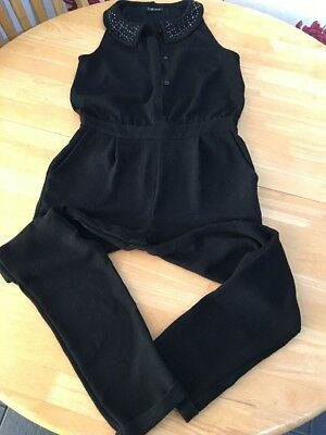 girls black jumpsuit From next Age 12