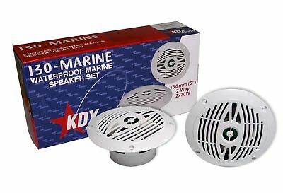 KDX Audio kin183147Kit of Marine Speakers (90W 8022000Hz) White
