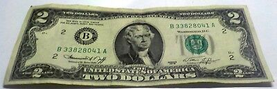 1976 Two Dollar United States Note Us Currency $2.00 Bill