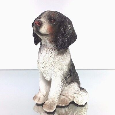 Border Collie figurine dogs Animals resin hand painted Christmas Decor 9.5 cm