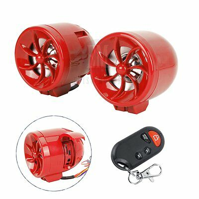 Remote USB Audio Radio LED Speakers Touch key MP3 Horns Fit Scooter Motorcycle