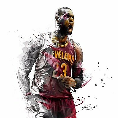 Cleveland Cavaliers LeBron James poster wall art decor photo print 24x24 inches