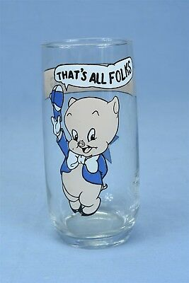 Vintage 1966 WARNER BROS LOONEY TUNES ARBY'S COLLECTOR'S GLASS PORKY PIG #04170