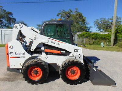 "2012 Bobcat S-650 Turbo ""enclosed Climate Cab"" Skid Steer Wheel Loader - Low Hrs"