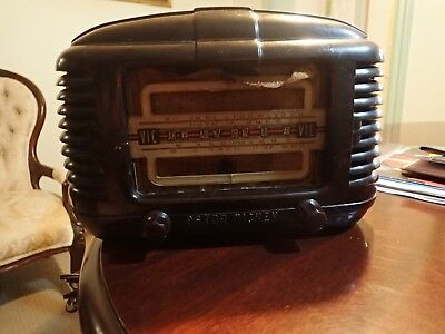 Astor Valve Radio Damaged Case Suit Restore Or Parts