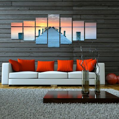 Jetty - EXTRA LARGE SPLIT FRAMED CANVAS PRINTS ! Modern Exclusive Art