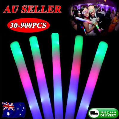 60-900PCS Multi-color LED Light  Foam Sticks Flashing Rave Party Glow Baton Wand