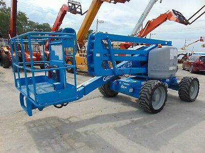 2005 Genie Z45/25 Articulated Basket Man Lift Dual Fuel (Gas Or Lp) Low Hours