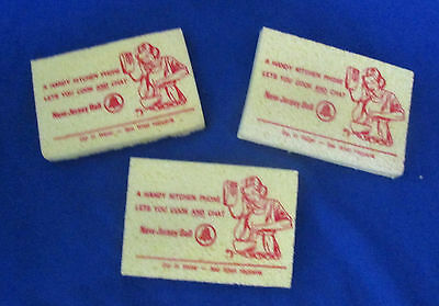 """Three New Jersey Bell Advertising Sponges """"Handy Kitchen Phone"""" Free Shipping"""