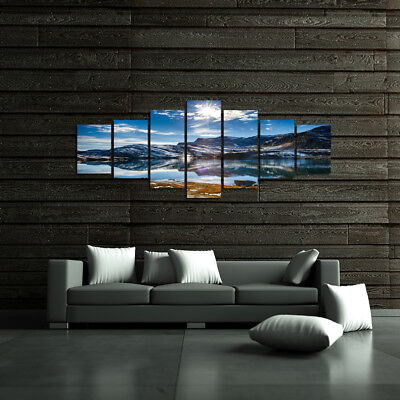 SNOWY MOUNTAINS - EXTRA LARGE SPLIT FRAMED CANVAS PRINTS ! Modern Exclusive Art