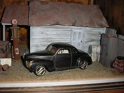 1/24 1/25 VINTAGE 1940's Plymouth Coupe Roller Builder 4 Junkyard diorama  parts