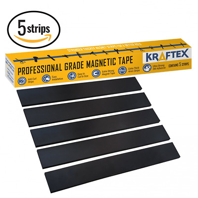 NEW #1 Magnetic Tape Extra Strong Premium Grade Magnet Strips with 3M Adhesive