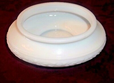 Vintage French Milk Glass Vanity / Cosmetic Container Modele Depose #3