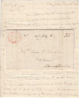 1828 Florida Stampless Letter, Financing an Orphan's Schooling by Renting Slaves
