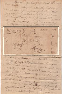 1825 Kentucky Stampless Letter - Plot to Prevent the Manumission of a Slave