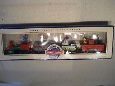 """1993 ~ """"looney Tunes Locomotion"""" ~ 4 Car Train ~ New In The Box"""