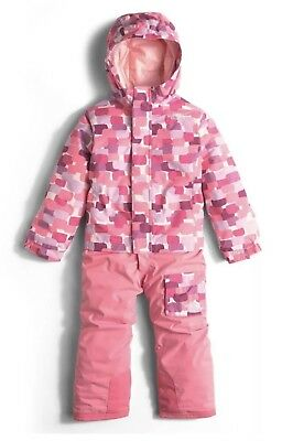 Nwt-The North Face Toddler Girl's Snowsuit/jumpsuit Size 4T~Pink Multi~$149