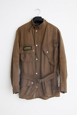 Barbour Mens Wax Jacket International Steve McQueen Size L
