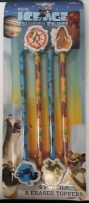 Ice Age Collision Course 4 Pencils & Toppers Set Stationery Gift School