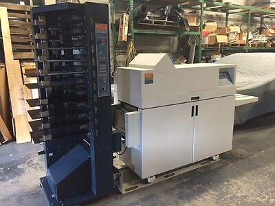 C.P. Bourg BST10d Suction Collator with Automated Bourg Document Finisher