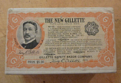'the New Gillette' Advertising Box, 1920's, Empty, Neat Collectible!