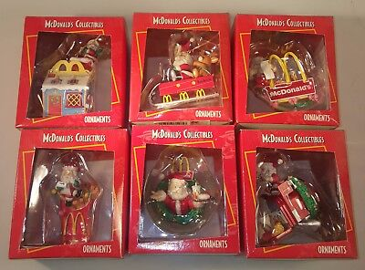 McDonald's Christmas Ornament Set From 1996