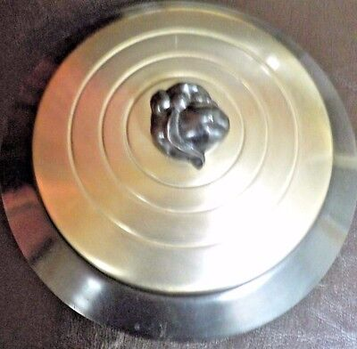 VINTAGE CHASE Art Deco Covered Dish Chrome Dome & Metal Base