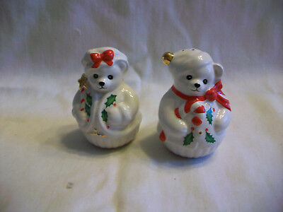 Lenox Christmas Bears Salt & Pepper Shakers